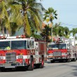 Fire brigade truck in Key West, Florida, USA — Stock Photo