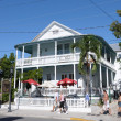 Traditional House in the Duval Street, Key West, Florida - Foto Stock