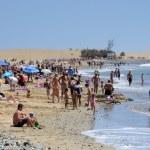 Beach in Maspalomas, Grand Canary Island — Stock Photo