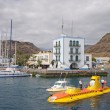 Yellow submarine in Puerto de Mogan, Grand Canary Island — Stock Photo