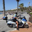 Stock Photo: PoliciLocal Officer in Las Americas, Tenerife