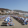 Playa de las Vistas beach in Los Cristianos, Canary Island Tenerife — Stock Photo