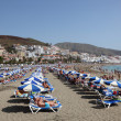 Playa de las Vistas beach in Los Cristianos, Canary Island Tenerife - Stock Photo