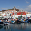 Fishing boats in the harbor of Los Cristianos, Canary Island Tenerife — Stock Photo
