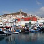 Fishing boats in the harbor of Los Cristianos, Canary Island Tenerife — Stock Photo