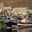 Stock Photo: Fishing boats in the harbor of Los Cristianos, Canary Island Tenerife