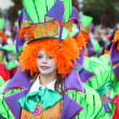 Stock Photo: SantCruz de Tenerife Carnival 2011: Womin clown costume