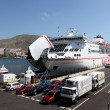 Ferry ship Armas in the port of Los Cristianos, Tenerife — Stock Photo #9343951