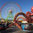 Ferris wheel and carousel in Santa Cruz de Tenerife - Stock Photo
