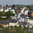 View over historic town Weilburg, Hesse Germany - Stock Photo