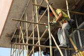 Bamboo scaffolding in Hong Kong — Stock Photo