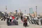 Promenade at the Bund, Shanghai China — Stock Photo