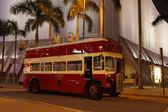 Vintage çift katlı otobüs hong kong — Stok fotoğraf