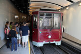 Peak tram kabelspoorweg in hong kong — Stockfoto