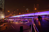 Shanghai streets at night — Stock Photo