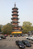 Pagoda at Longhua Temple in Shanghai, China — Stock Photo