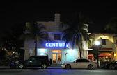 Art Deco Century hotel illuminated at night. Ocean Drive, Miami South Beach, Florida — Stock Photo