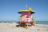Miami beach, florida, art deco cankurtaran kulesi — Stok fotoğraf