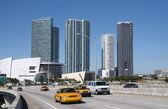 Traffic on the Bridge at Downtown Miami, Florida — Foto de Stock