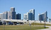 Centro de la ciudad miami, florida estados unidos — Foto de Stock