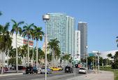 Biscayne Boulevard in Downtown Miami, Florida — Stock Photo