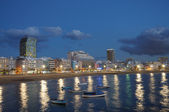 Las Palmas de Gran Canaria at night, Grand Canary Spain — Stock Photo