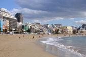 Plaj playa de las canteras de las palmas de gran canaria — Stok fotoğraf