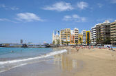 Beach Playa de Las Canteras in Las Palmas de Gran Canaria — Stock Photo