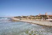 побережье маспаломас, остров гран канария, испания — Стоковое фото