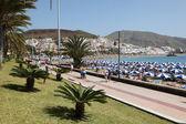 Promenade in Canary Islands Resort Los Cristianos, Tenerife — Stock Photo