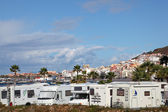 Recreational Vehicles parked in Los Cristianos, Tenerife — Stock Photo