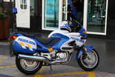 Policia local de la motocicleta, tenerife españa — Foto de Stock