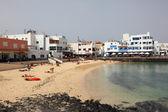 Spiaggia di corralejo, canarino isola fuerteventura, spagna — Foto Stock