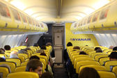 Inside of the Ryanair airplane — Stock Photo