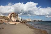 Plage del medano, canaris île tenerife, espagne — Photo