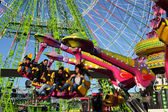 Amusement park ride in Santa Cruz de Tenerife, Spain — Stock Photo
