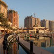 Promenade in The Pearl, Doha Qatar — Stock Photo