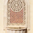 Water tap at the Qatar State Grand Mosque in Doha — Stock Photo