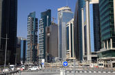 Doha downtown district West Bay, Qatar — Stock Photo