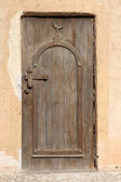Wooden door of a mosque — Stock Photo