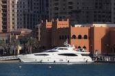 Luxury yacht in Porto Arabia, Doha Qatar — Stock Photo