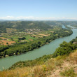 Stock Photo: Landscape with Rhone river in Provence, France