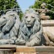 Lion statues in Aix-en-Provence, southern France — Stock Photo #9452250