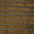 Stock Photo: Departures board in trainstation of Nice, France