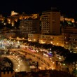 View over Monaco at night - Stock Photo