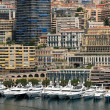 Apartment buildings and yachts in Monaco — Stock Photo