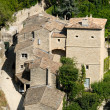 Aerial view of medieval houses in Gordes, France — Stock Photo