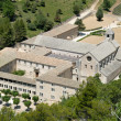 Aerial view of Seanque Abbey, southern France — 图库照片