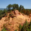 Stock Photo: Former ochre quarry in Roussillon, France