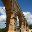 Roman aqueduct Pont du Gard in southern France — Stock Photo #9453445